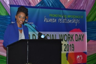 Ministry of Social Protection, Deputy Director of Social Services, Abike Benjamin- Samuels.