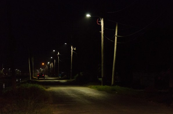 A section of the now well-lit Angoy's Avenue.