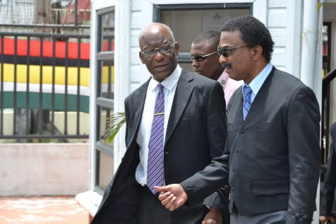 Minister of Legal Affairs and Attorney General, Basil Williams SC., and Former Attorney General of Grenada, Queen's Counsel, Dr. Francis Alexis