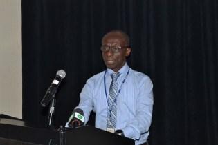 PAHO/WHO's representative in Guyana, Dr. William Adu-Krow.