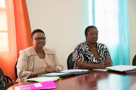 Minister of Public Health, Volda Lawrence [left] and Chairperson of the National Commission for the Prevention and Control of Non-Communicable Diseases in Guyana (NCPC-NCD), Dr. Holly Alexander, A.A