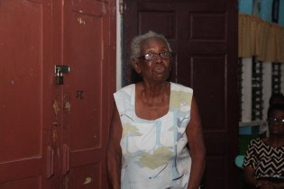 An elderly citizen sharing her view about the great development of Guyana past and present.