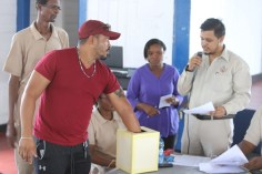 Small miners draw for their mining prospective during government's mining lottery.