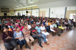 A section of the attending parents at the meeting hosted at the Berbice High School
