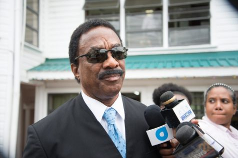 Attorney General and Minister of Legal Affairs, Basil Williams SC., speaking to the media today