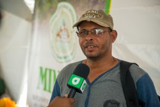 Prince Bowman from West Coast Berbice speaks with DPI after having his matter heard by Minister of Natural Resources, Raphael Trotman.