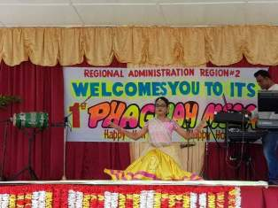 A cultural dance being performed at the Phagwah Mela.