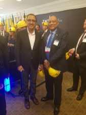 Minister of Natural Resources Hon. Raphael Trotman with Canada's Minister of Natural Resources Hon. Amarjeet Sohi