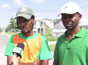 (from left) Chairman of Festival City's Youth and Parent Organisation, Richard Taylor and Dr. Simpson DaSilva.