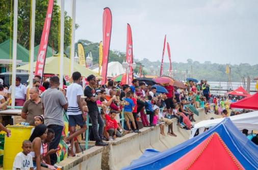 Scenes from the opening day of the Bartica Regatta.