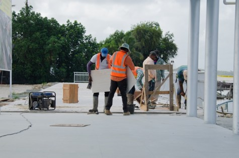 Supenaam Waterfront Project taking shape.