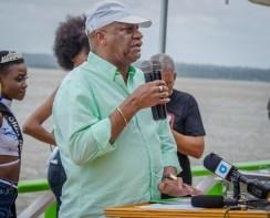 Minister of State, Joseph Harmon at Bartica Regatta 2019.