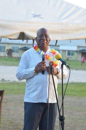Minister of Finance, Winston Jordan addressing residents of West Watooka.