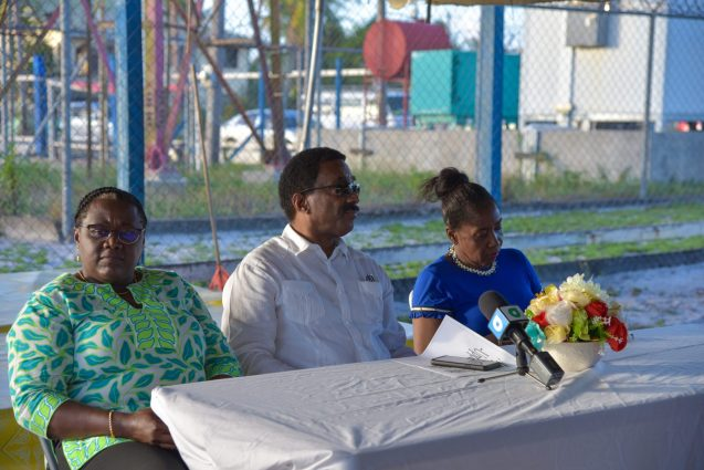[In the photo from left to right] Minister within the Ministry of the Presidency, with responsibility for Youth Affairs, Simona Broomes, Attorney General and Minister of Legal Affairs, Basil Williams SC., and Minister within the Ministry of Agriculture, with responsibility for Rural Areas, Valerie Adams-Yearwood.