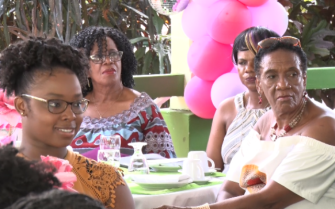 Ladies enjoying an interlude of Music at State House.