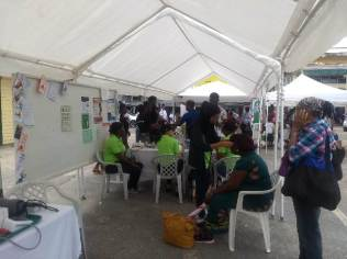 Scenes from 2019 Linden Town Week Health Fair.