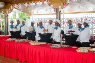 A group of students from the Carnegie School of Home Economics on Tuesday at the British High Commissioner's Residence.
