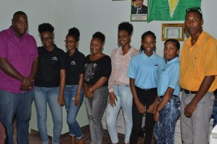 Adams and his team - all youths employed from within the community