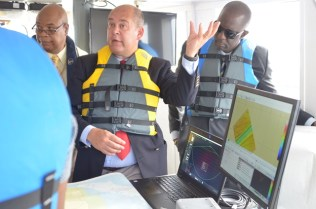 Hydrographic Programme Manager within the United Kingdom Hydrographic Office (UKHO), Ian Davies explains how the hydrographic equipment works.