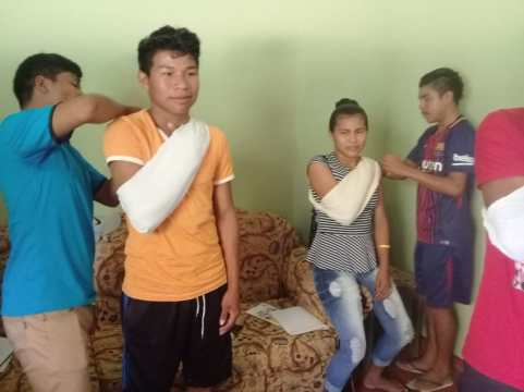 Residents of Karasabai during the practical session of the First Aid & CPR training