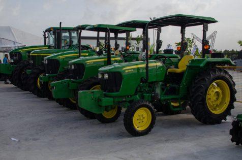 Some of the tractors on display sold by Genequip