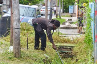 """""""No stagnant water or mosquitoes here"""" Cleanup exercise in Worthmanville"""