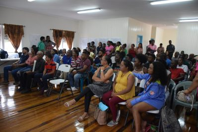 Residents at the mining lottery in Bartica