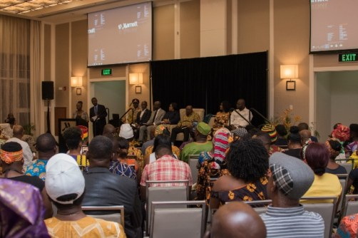 President of the Republic of Ghana, Nana Akufo-Addo interacts with the Ghanaian diaspora at the Marriott Hotel.