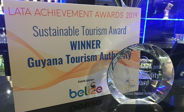 Best in Sustainable Tourism Award from LATA