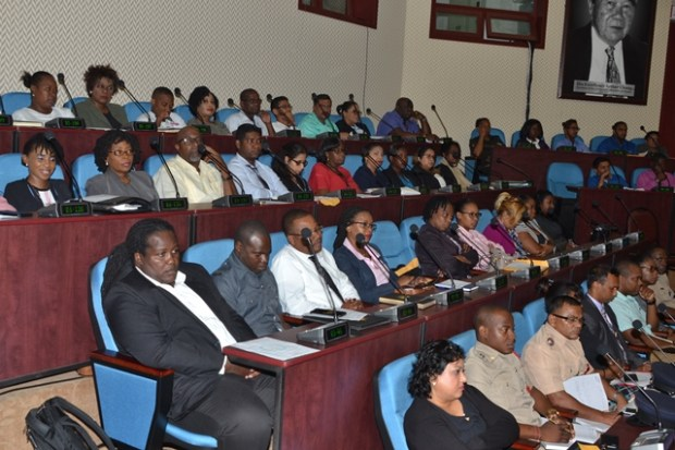 Stakeholders during the launch of the 2020 Budget Training Session at the Arthur Chung Conference Centre (ACCC), on Thursday, July 11.