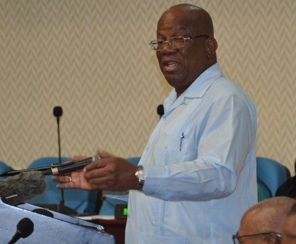 Minister of Finance, Hon. Winston Jordan addressing permanent secretaries, heads of budget agencies and other stakeholders during the launch of the 2020 Budget Training Session at the Arthur Chung Conference Centre (ACCC).
