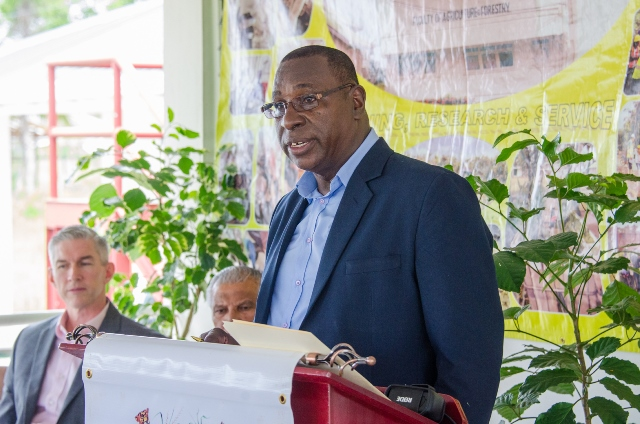 Dean of the Faculty of Agriculture and Forestry, Owen Bovell.