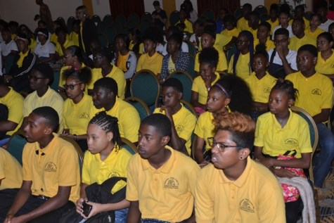 A section of the Volunteer Youth Corps students.