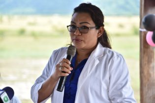 Dr. Gillian Joseph, North Rupununi District Health Supervisor and Doctor in Charge of the Annai Health Centre