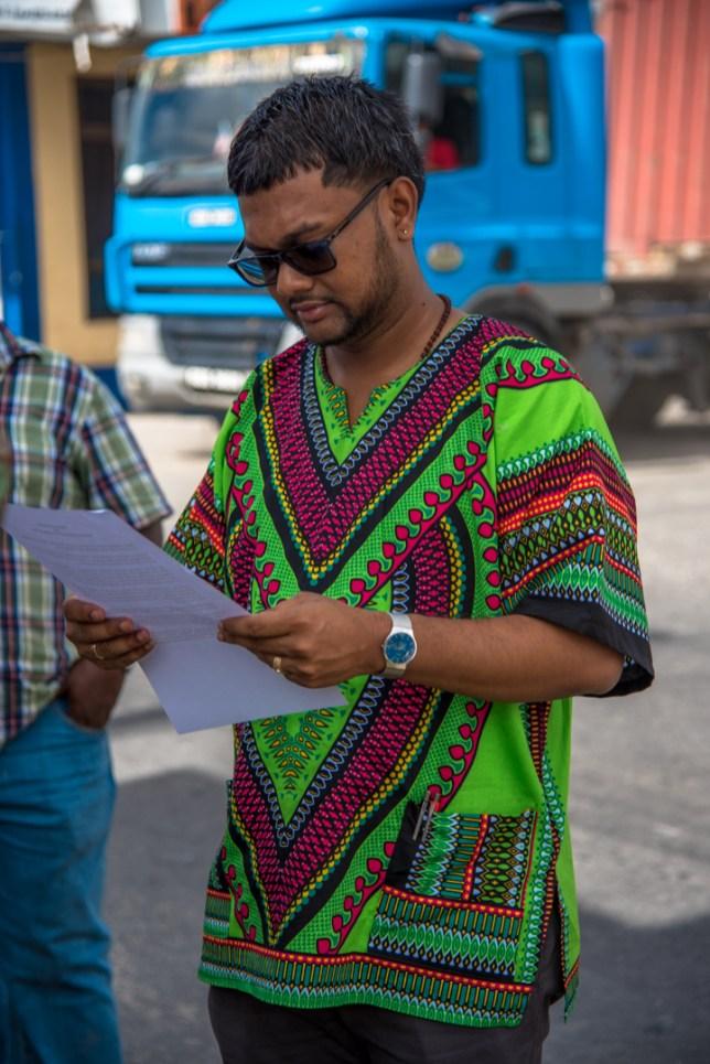 Shots during Mayor of Georgetown Pandit Ubraj Narine's site visit to the at Sussex Street pump