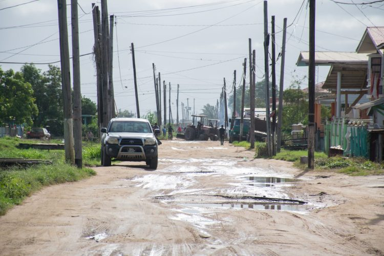 One of Cane Grove's internal streets