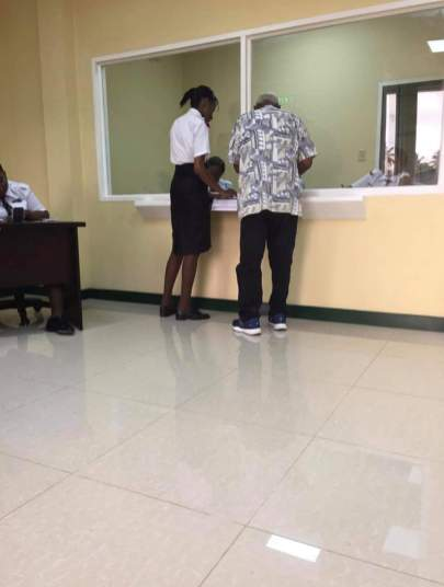 An elderly resident benefiting from renewal passport services