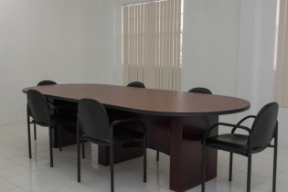 Inside the conference room of the new NDIA building.