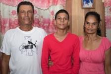 Pawan Etwaroo with his parents Anand Etwaroo and Babita Etwaroo.