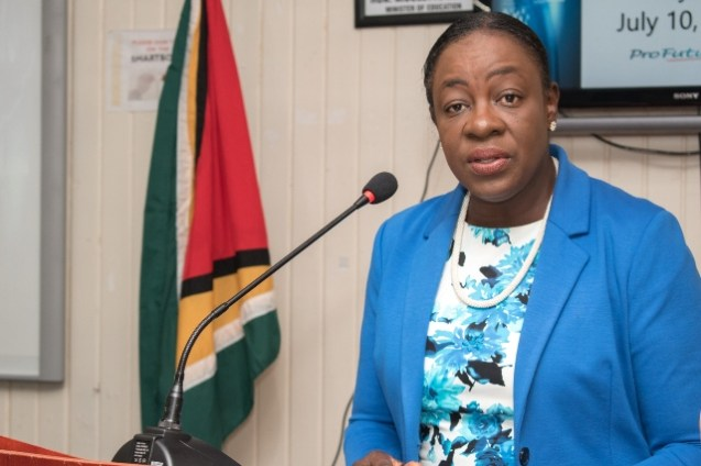 Minister of Education, Hon. Dr. Nicolette Henry.