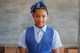 Moressia Christopher, a teacher in the making, gained 460 marks which secured a spot for her at Mackenzie High School.