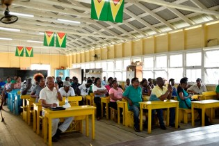 DSC8584: Residents of Stanleytown and Good Intent during a community meeting.