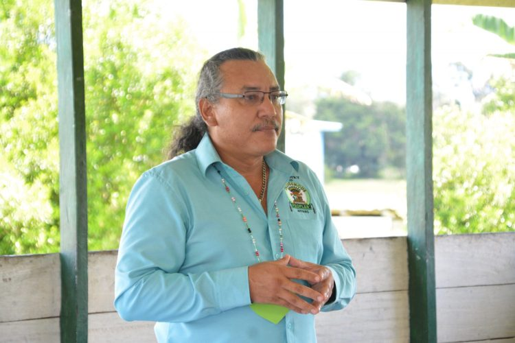 Member of Parliament, Hon. Mervyn Williams, addressing residents of Kako Village, in Region 7