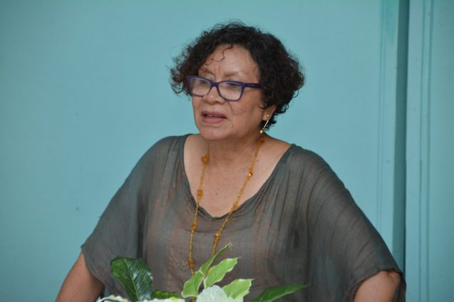 Minister within the Ministry of Indigenous Peoples' Affairs. Hon. Valerie Garrido-Lowe.