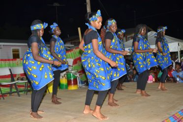 Group performing a cultural dance