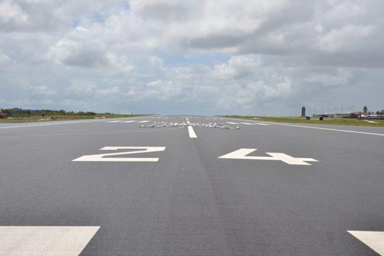 Runway at Cheddi Jagan International Airport (CJIA).