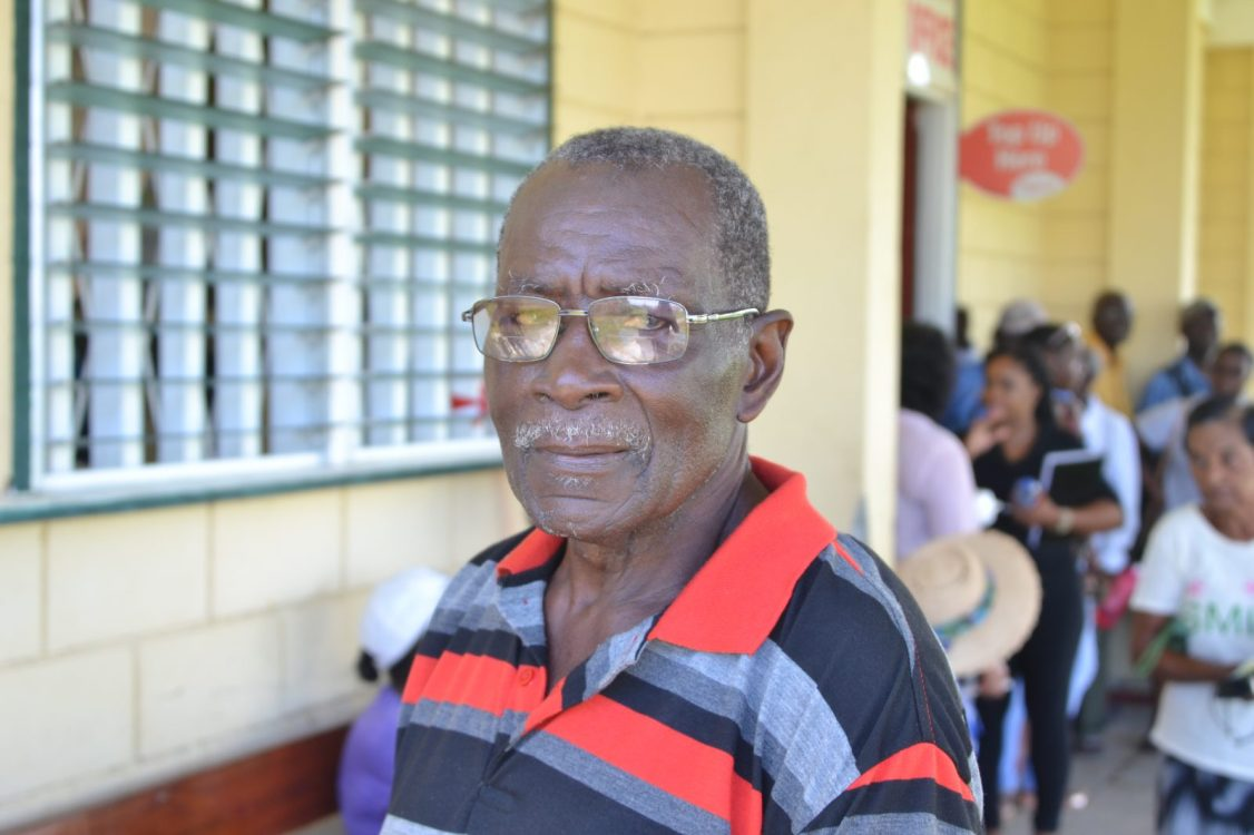 78-year-old Philip Adams, speaking with the Department of Public Information (DPI)