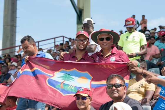 Cricket lovers at the Guyana National Stadium viewing the match between West Indies and India