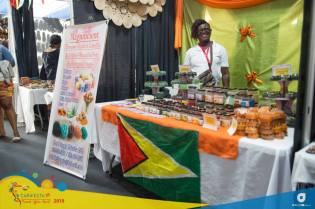 One of Guyana's booths at the CARIFESTA XIV's Grand Market