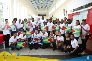 Some of the delegates of the Guyana contingent for CARIFESTA XIV.